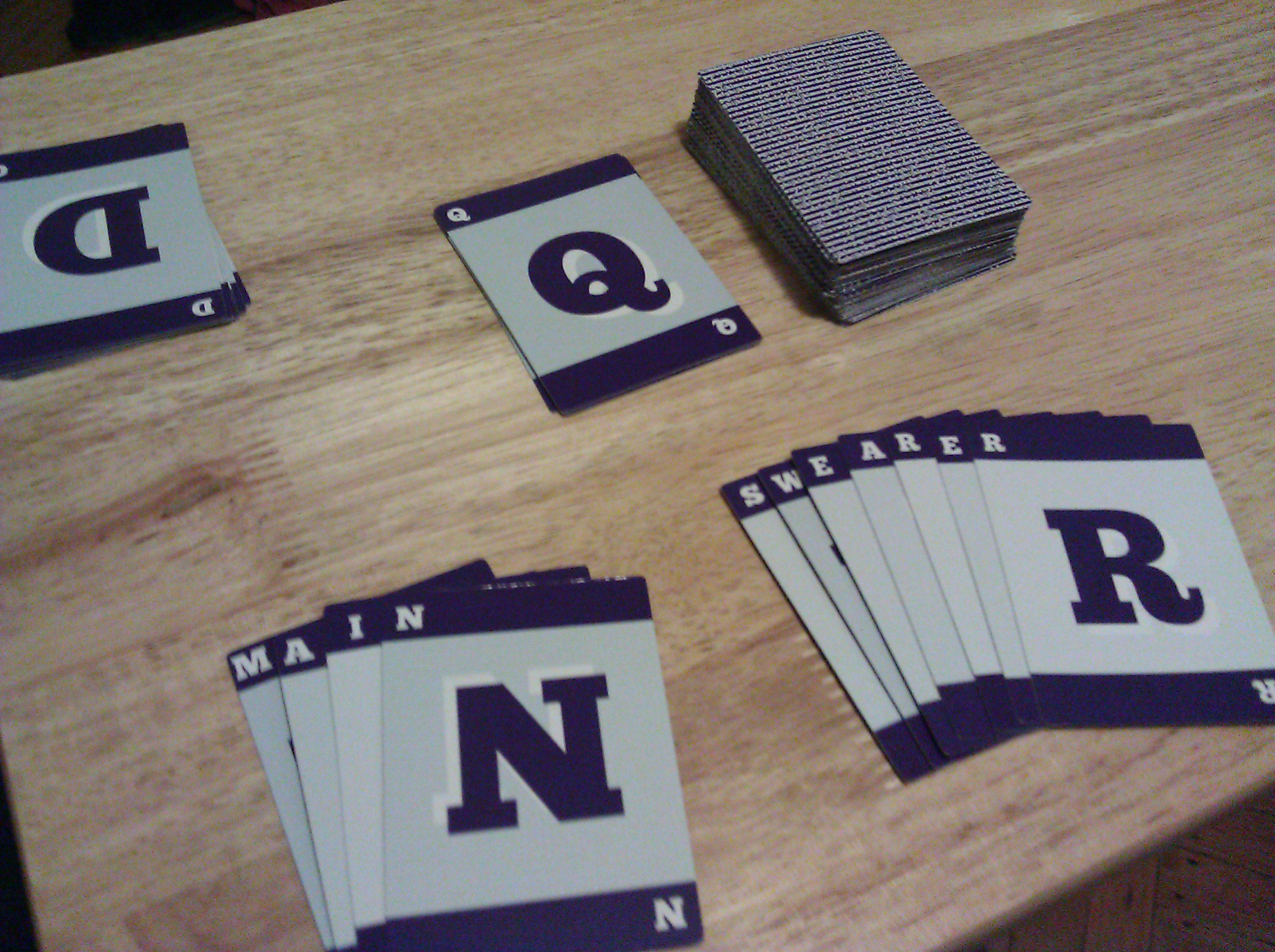 Lucky A Letter Deck Game Prototype